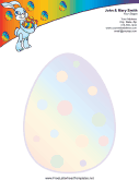 Easter Letterhead with Easter Bunny Carrying Eggs