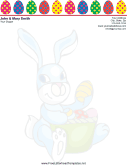 Easter Letterhead with Colorful Easter Eggs