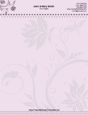 Wedding Letterhead - Floral