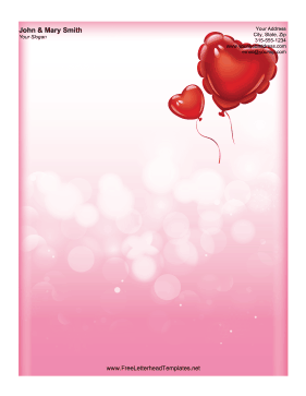 Balloon_Valentine_Letterhead Valentine S Day Letterhead Templates on you light up my, menu background, free download, hearts print, event flyer, related free, order form, greeting card, party flyer,