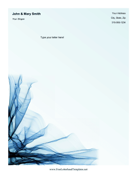 Blue Cloth Letterhead Letterhead Template
