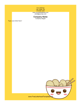 Bowl of Chips Letterhead Letterhead Template