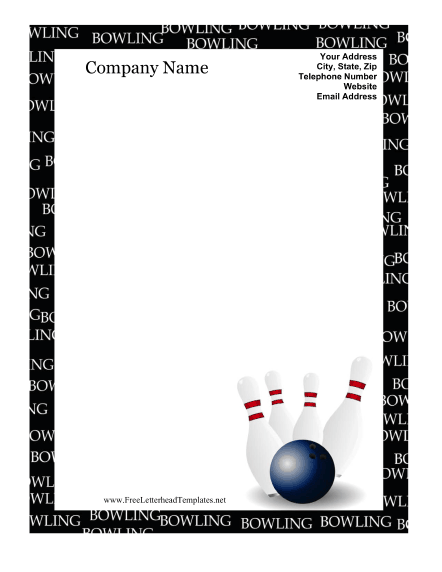 Bowling border template idealstalist bowling border template yadclub Image collections