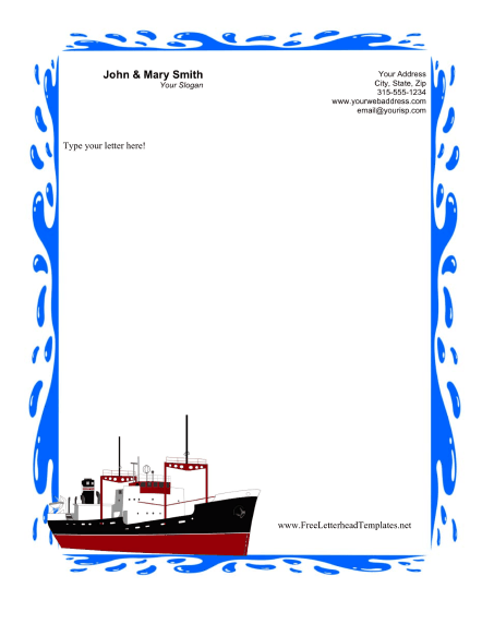 Cruise Business Letterhead Letterhead Template