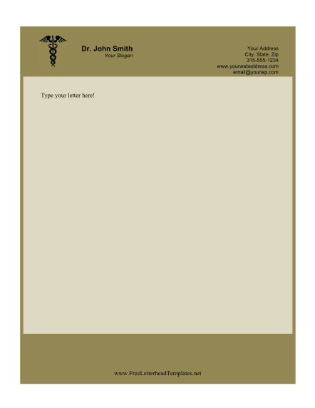 Doctor Business Letterhead – Business Letter Heading Template