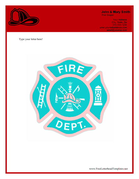 Fire Department Business Letterhead Letterhead Template