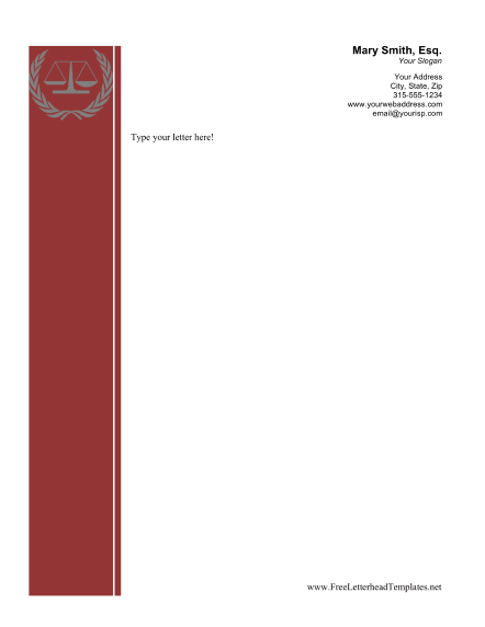 legal business letterhead