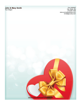 Chocolate Box Letterhead Letterhead Template