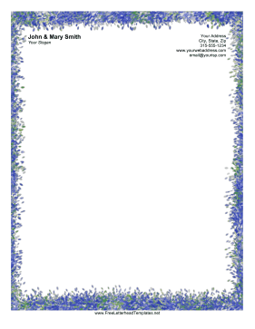 Colorful Smudge Letterhead Letterhead Template