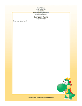 Dragon Orange Letterhead Letterhead Template