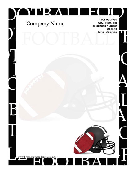 Football Letterhead Letterhead Template