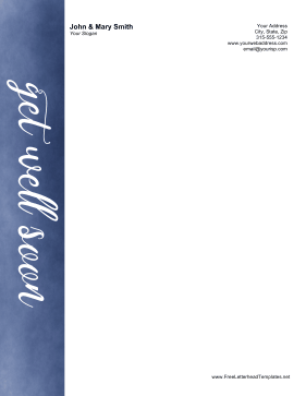 Get Well Soon Letterhead Letterhead Template
