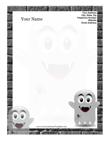 Ghost Kid Letterhead Letterhead Template