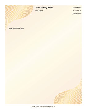 Golden Stripes Letterhead Letterhead Template