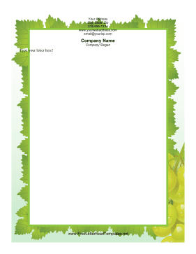Green Grapes Letterhead Letterhead Template