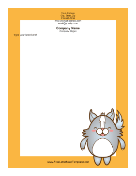Happy Skunk Letterhead Letterhead Template