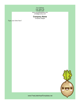 Happy Turnip Letterhead Letterhead Template