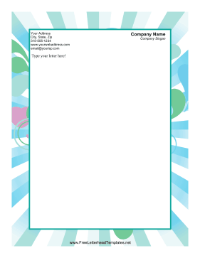 Hearts and Stripes Valentines Letterhead Letterhead Template