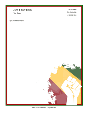 Juneteenth Letterhead Colorful Letterhead Template