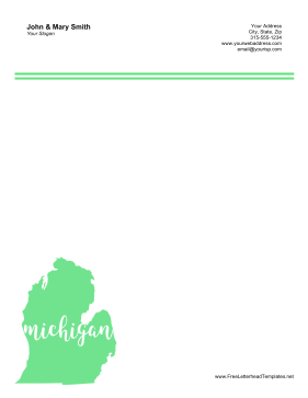 Michigan Letterhead Letterhead Template
