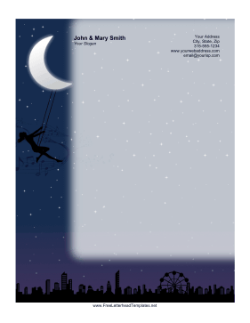 Night Swing Letterhead Letterhead Template