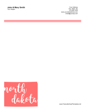 North Dakota Letterhead Letterhead Template