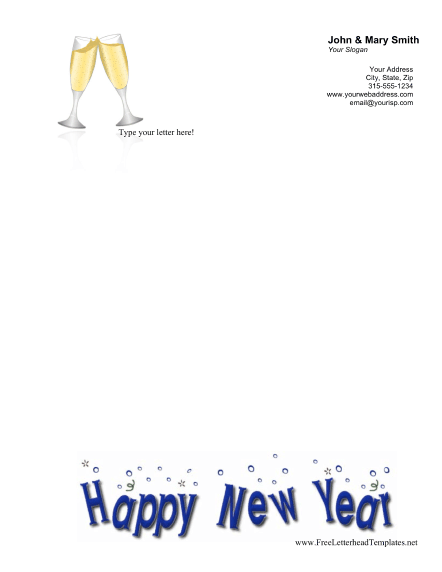 New Year Letterhead Letterhead Template