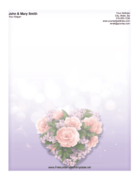 Pretty Bouquet Letterhead Letterhead Template