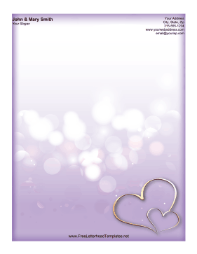Purple Heart Letterhead Letterhead Template