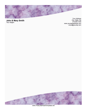 Purple Quartz Letterhead Letterhead Template