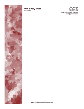 Red Watercolor Bar Letterhead Letterhead Template