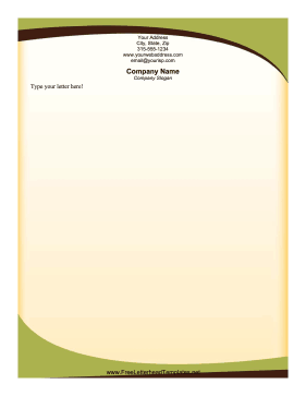 Sophisticated Green Letterhead Letterhead Template