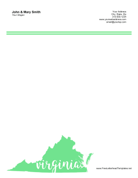 Virginia Letterhead Letterhead Template