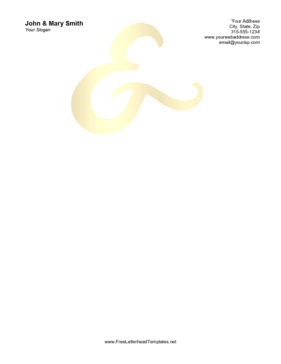 Wedding Ampersand Letterhead Letterhead Template