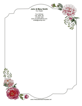 Wedding Blooms Letterhead Letterhead Template