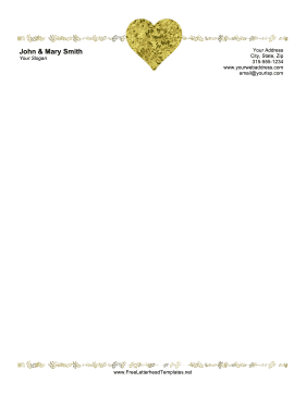 Wedding Confetti Heart Letterhead Letterhead Template
