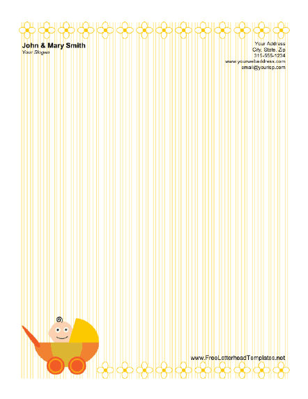 Baby Carriage Letterhead Letterhead Template