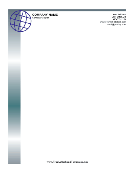 Business Letterhead with Globe Letterhead Template