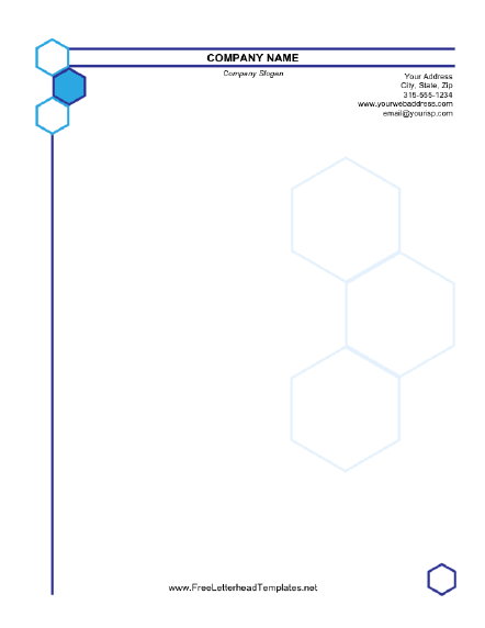 Hexagonal Business Letterhead Letterhead Template