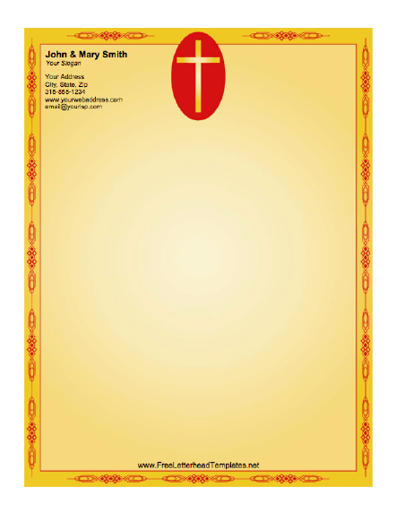 image about Religious Cross Template Printable referred to as Cross Letterhead