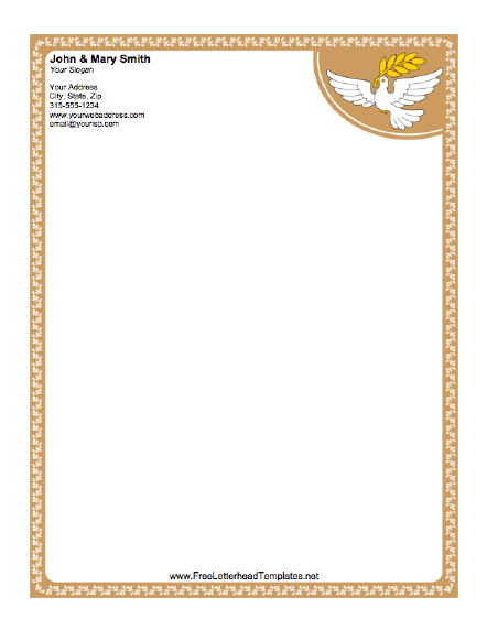 Dove letterhead spiritdancerdesigns Choice Image