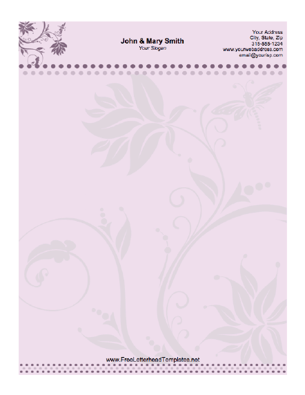 Wedding Letterhead Floral